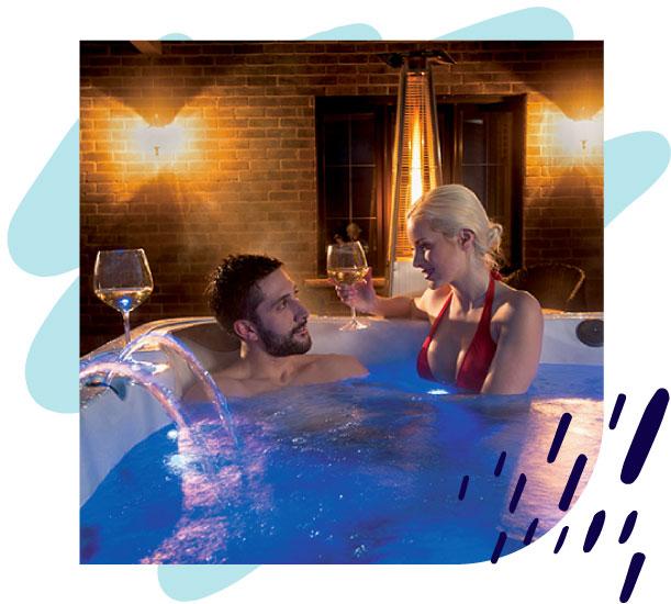 Wellness im Whirlpool, Infrarotkabine und Massagesessel